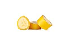 Banane sur le blanc Photographie stock