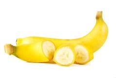 Banane sur le blanc Photo stock