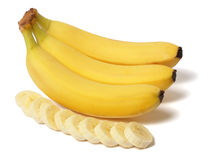 Banane sur le blanc Photo stock