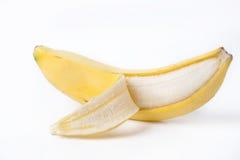 Banane sur le fond blanc Photo libre de droits