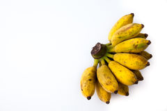 Banane sur le fond blanc Photographie stock libre de droits