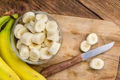 Banane tagliate Immagini Stock