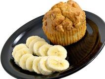 Banane u. Muffin Lizenzfreie Stockfotografie