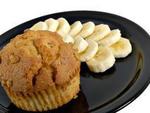 Banane u. Muffin Lizenzfreie Stockfotos