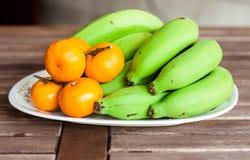 Banane und Orange Stockfotografie