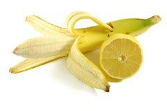 Banane und Zitrone Lizenzfreies Stockbild