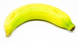 Banane zwei auf dem weißen Hintergrund, essfertig Stockbilder