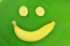 Bananen är ett leende Arkivbild