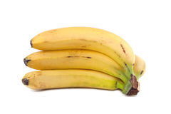 Bananen auf Weiß Stockbild