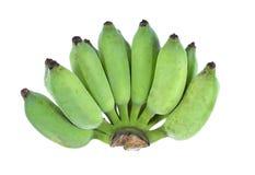 Bananen auf weißem Hintergrund Stockfotografie