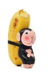 bananen bär apan Royaltyfria Bilder