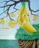 Bananen-Baum vektor abbildung