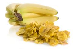 Bananen-Chips Stockbilder
