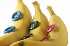 Bananen in der Zeile Stockbild