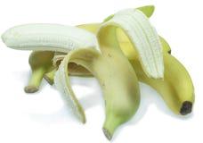 Bananen die op witte achtergrond worden geïsoleerdn royalty-vrije stock fotografie
