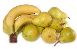 Bananen en peren Stock Fotografie