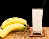 Bananen-Erschütterung Lizenzfreie Stockfotos