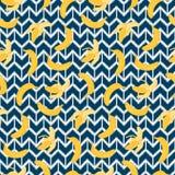 Bananen Etnisch Naadloos Patroon vector illustratie