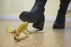 Bananen-Gefahr! stockfoto