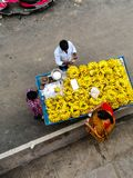 Bananen gekauft Stockbild