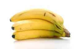 Bananen getrennt auf Weiß Lizenzfreie Stockfotografie