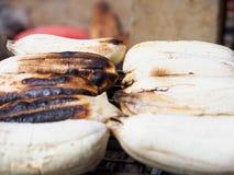 Bananen halstrar royaltyfri fotografi