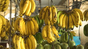 Bananen im Obstmarkt stock video footage