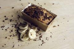 Bananen-Kuchen stockfoto