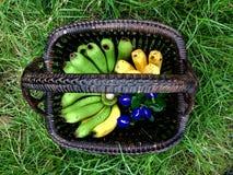 Bananen in Mand Royalty-vrije Stock Foto's