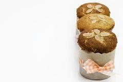 Bananen-Mandel-Muffin stockbild