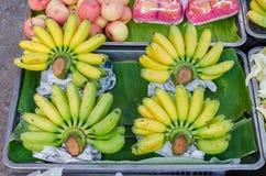 Bananen marknadsför in Royaltyfri Bild