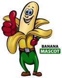 Bananen-Maskottchen Stockbild
