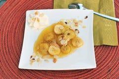 Bananen mit Honig Lizenzfreie Stockfotografie