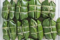 Bananen mit klebrigem Reis Lizenzfreies Stockbild