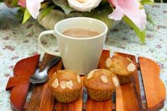 Bananen-Muffins Stockfotografie