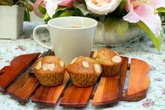 Bananen-Muffins Lizenzfreie Stockbilder