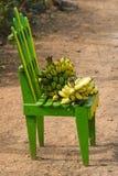 Bananen op de stoel Stock Afbeelding