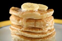 Bananen-Pfannkuchen 2 Stockfoto