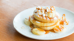 Bananen-Pfannkuchen Lizenzfreies Stockbild