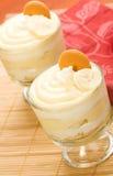 Bananen-Pudding stockbilder