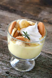 Bananen-Pudding Stockfoto