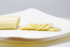 bananen ringde skivat Fotografering för Bildbyråer