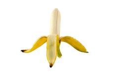 Bananen-Schale auf dem Isolat whie Hintergrund Stockbilder