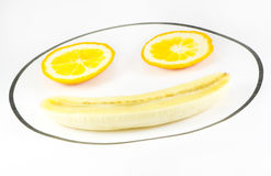 Bananen und Orangen Lizenzfreies Stockfoto