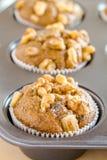 Bananen-Walnuss und Chia Seed Muffins Lizenzfreie Stockfotografie