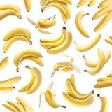 Bananenbündel auf dem weißen Hintergrund lizenzfreies stockfoto