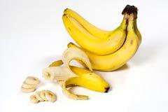 Bananenbündel und geschnitten Stockfotografie