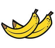 Bananenillustratie op witte achtergrond wordt geïsoleerd die Royalty-vrije Stock Afbeeldingen