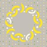 Bananenkarte Stockfotografie
