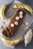 Bananenkuchen Lizenzfreie Stockbilder